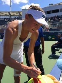 Aliaksandra Sasnovich, 2018 US Open (Photo: Tennis Atlantic)