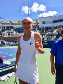 Aliaksandra Sasnovich, 2018 US Open (Photo: Tennis Atlantic)