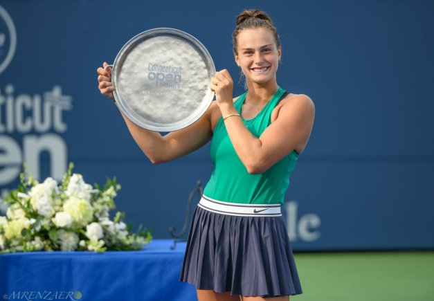 Aryna Sabalenka, 2018 Connecticut Open, (Photo: Mike Renz for Tennis Atlantic)