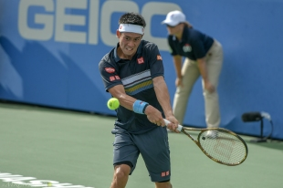 Kei Nishikori, 2018 Citi Open (Photo: Mike Renz for Tennis Atlantic)