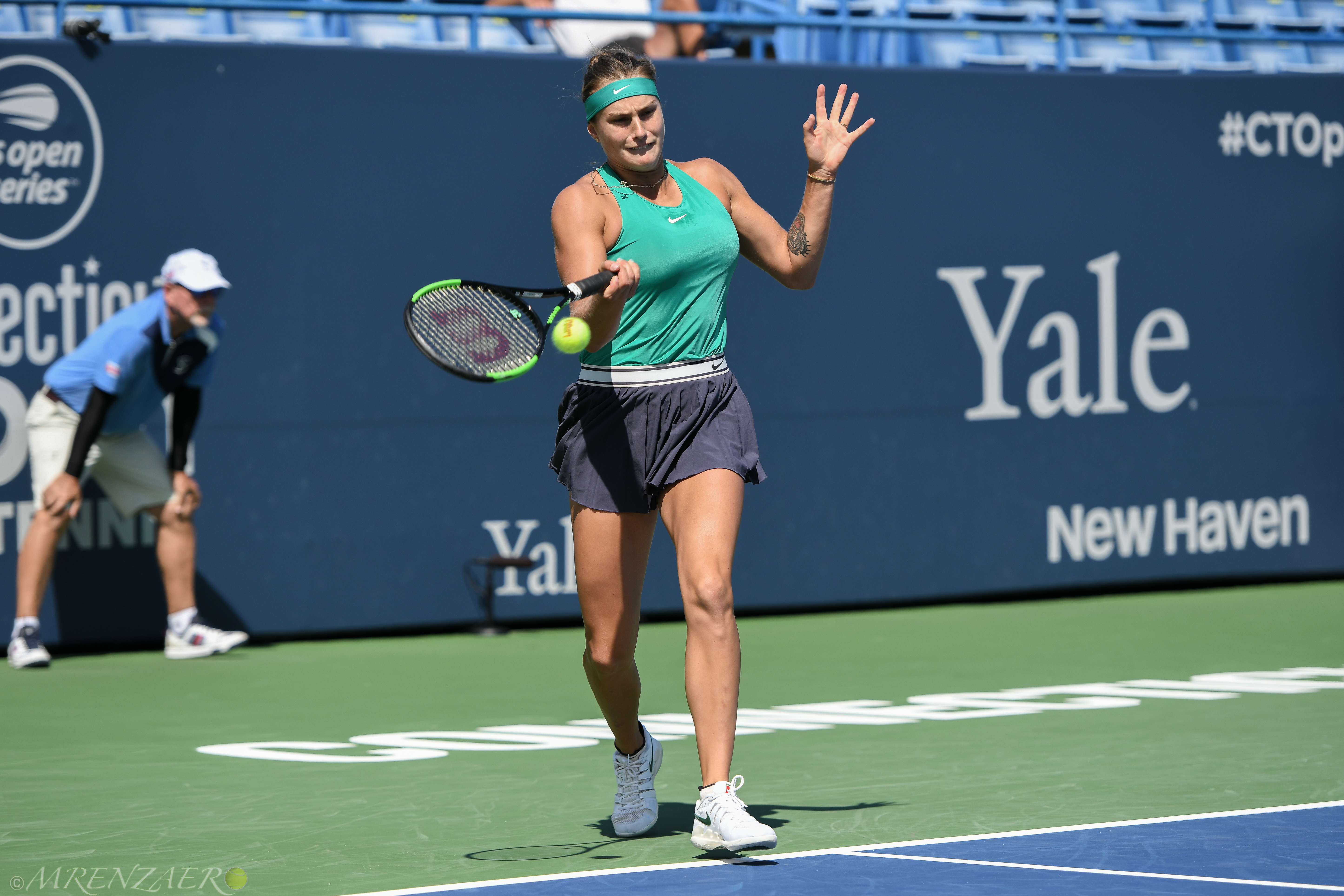 Aryna Sabalenka, 2018 Connecticut Open (Photo: Mike Renz for Tennis Atlantic)