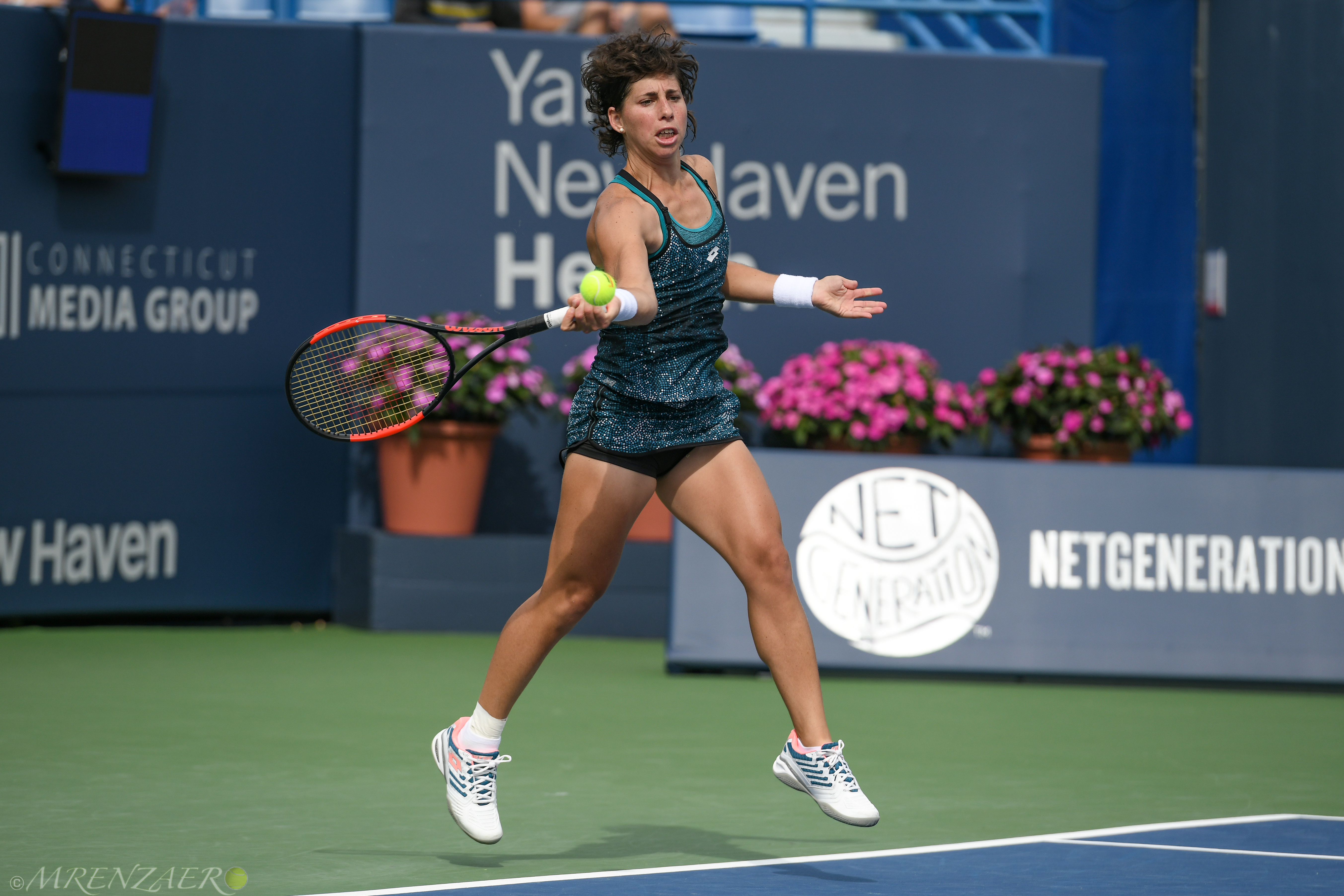 Carla Suarez Navarro, 2018 Connecticut Open, (Photo: Mike Renz for Tennis Atlantic)