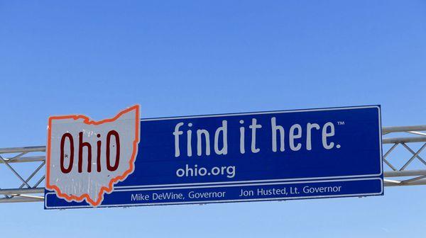 Ohio Stateline Sign, 2019